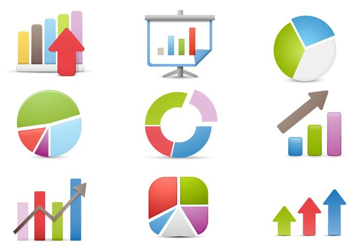 Charts und Business PSD Icons