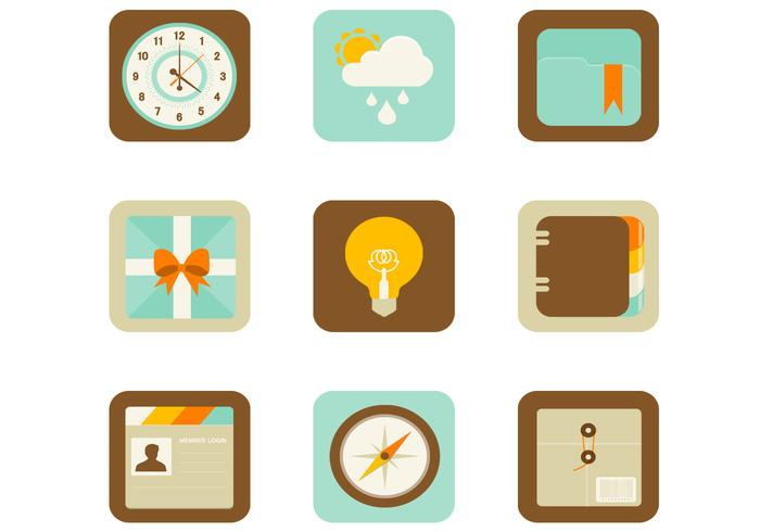Icônes de PSD à écran plat et mobile