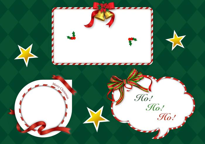 Weihnachten Candy Cane Label PSD Pack