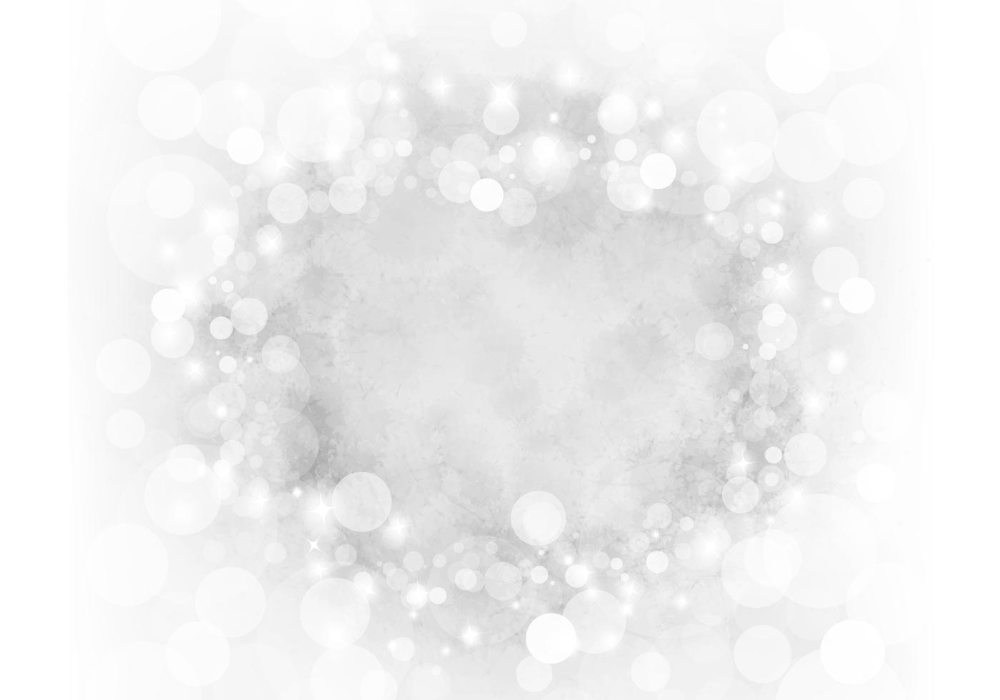 silver sparkly bokeh psd background