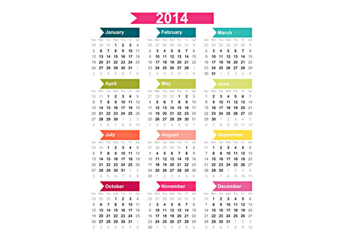 2014 Calendar Background - design simples