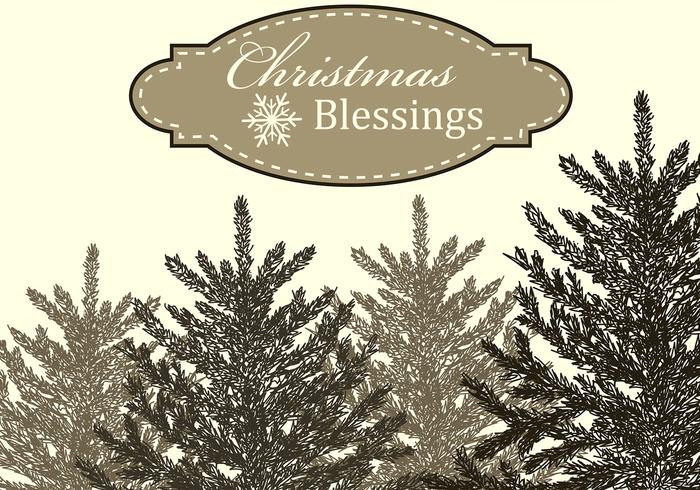 Christmas Blessings Background