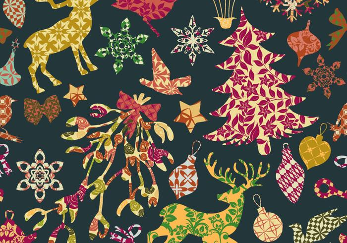 Seamless Patchwork Christmas Pattern Free Photoshop Brushes At Cool Christmas Patterns