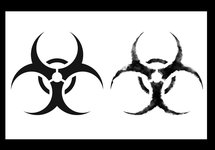 Biohazard Symbol Brushes