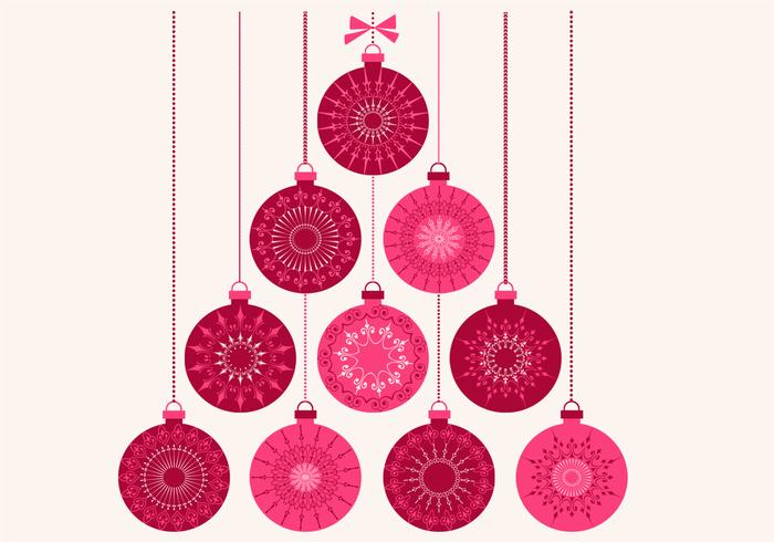Retro Christmas Ornament PSD Background