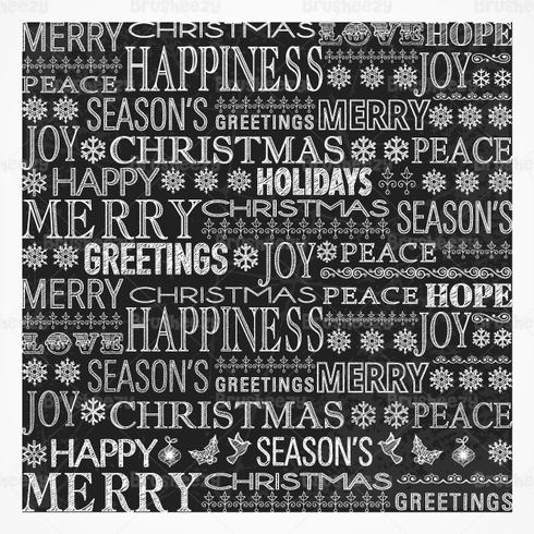 Chalk Drawn Christmas Greeting PSD Contexte