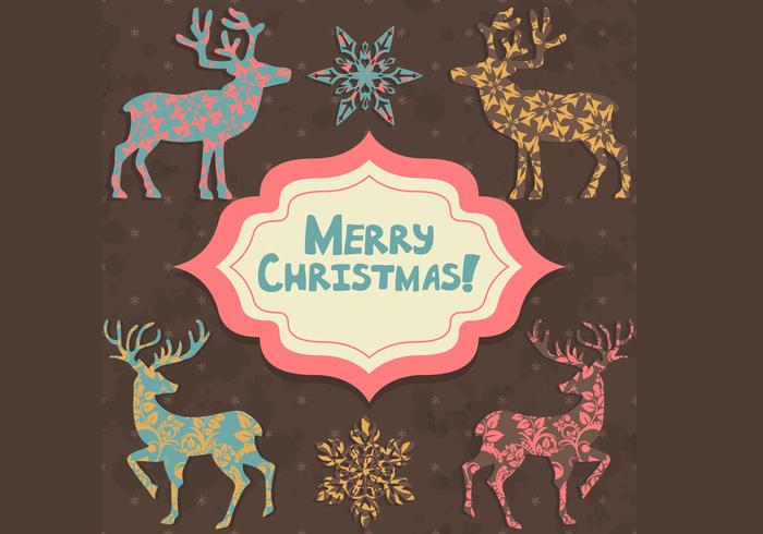 Patterned Christmas Card Background Pack