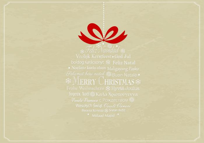 Multilingual Christmas Ornament PSD Background