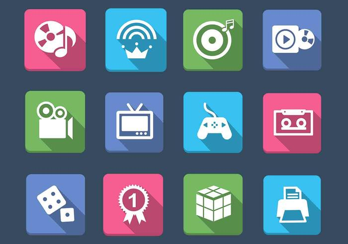 Multimedia en Games Icon PSD Pack