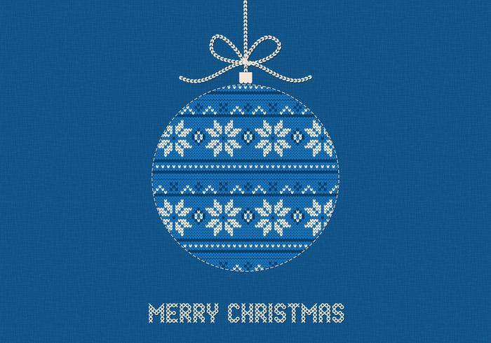 Blue Knitted Merry Christmas PSD Background
