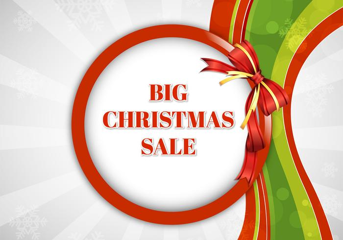 Big Christmas Sale PSD Background