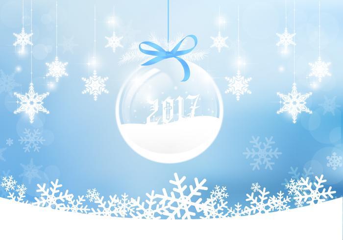 2017 winter ornament psd background