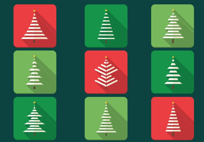 Abstract Christmas Tree PSD Icon Pack