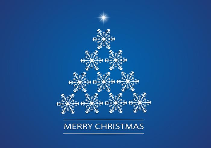Snowflake Christmas Tree PSD Background