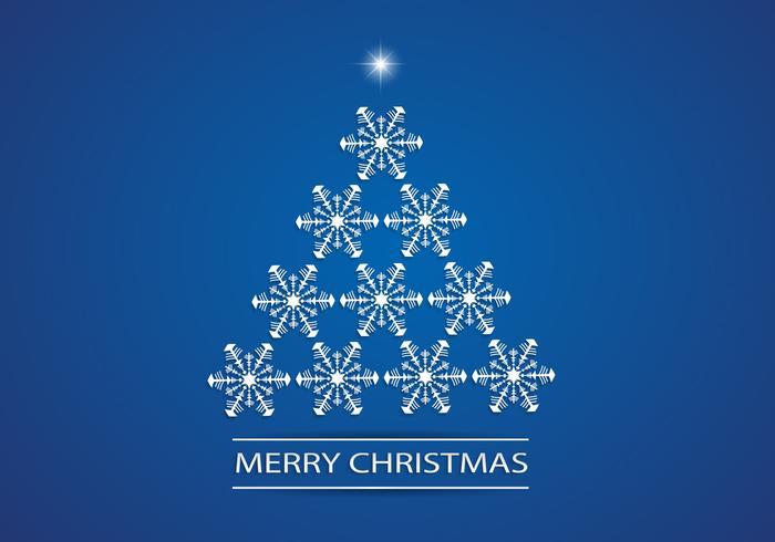 Floco de neve árvore de natal psd background