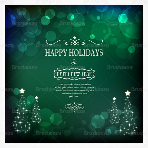 Emerald Bokeh Christmas PSD Background