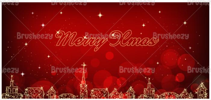 Luzes da cidade Christmas PSD Background