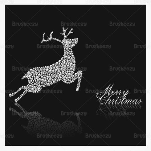 Diamond Studded Reindeer Christmas PSD Background