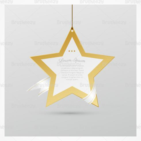 Golden Holiday Star PSD Background