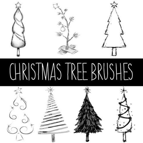 Christmas Tree Brushes