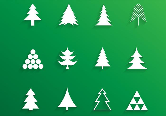 Simple Christmas Tree Brushes and PSD Pack