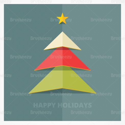 Papel Popup Christmas Tree PSD Background