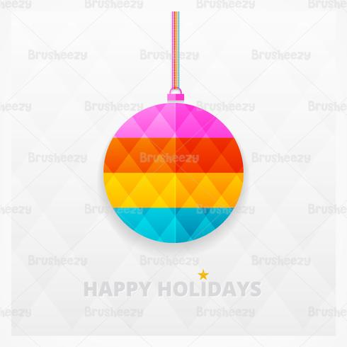 Modern Bright Christmas Ornament Contexto PSD