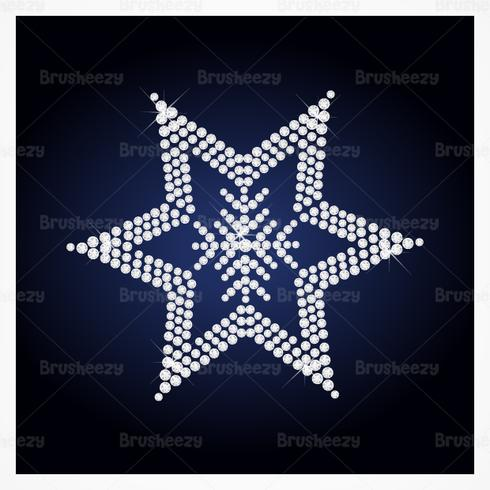 Diamond Studded Star PSD Hintergrund