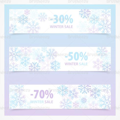 Snowflake Winter Sale Banner PSD Pack