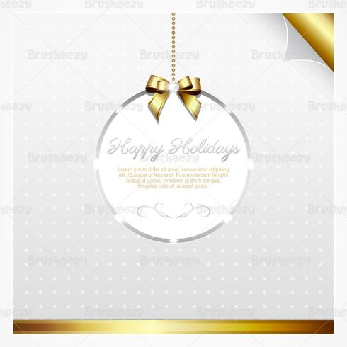 Silver and Gold Holiday Card PSD