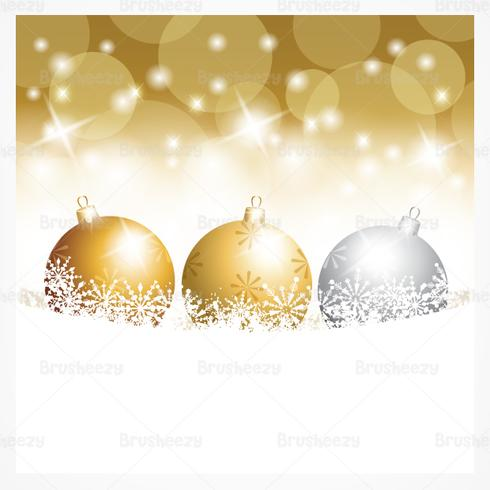 Gold Christmas Ornament PSD Wallpaper