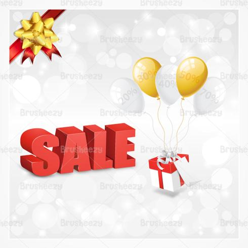 Christmas Sale Background PSD
