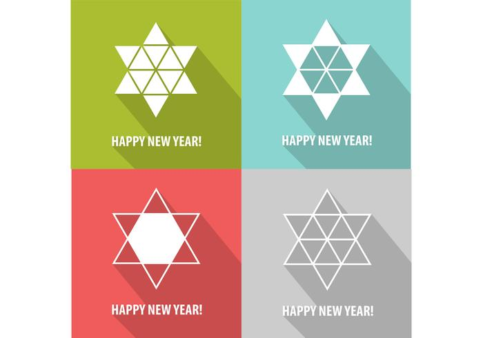Modern Star New Year PSD Background Pack