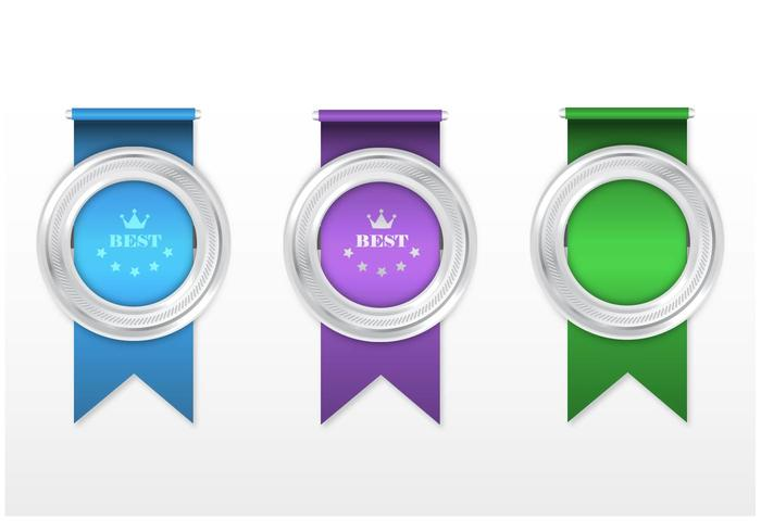 Silver Award Ribbon PSD Pack