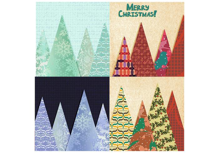 Patchwork Christmas Tree Background Pack