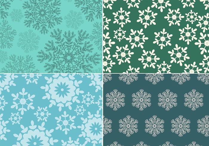 Nahtlose Snowflake Pattern Pack