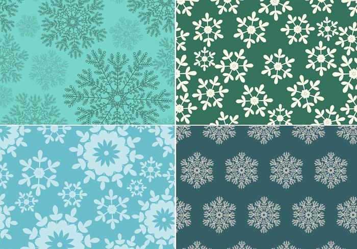Sömlös snowflake mönstret pack