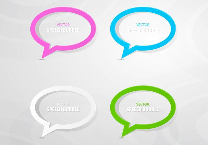 Colorful Outlined Speech Bubble PSD Pack