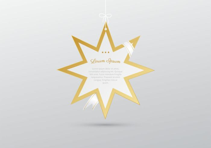 Hanging Star with Ribbon PSD