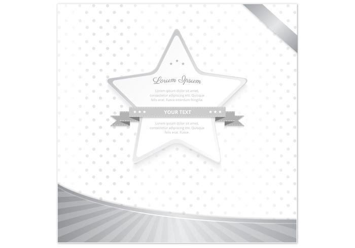Estrela de bolinhas de prata psd