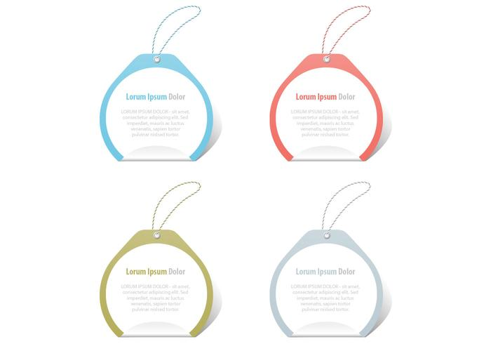 Curled Tag PSD Pack