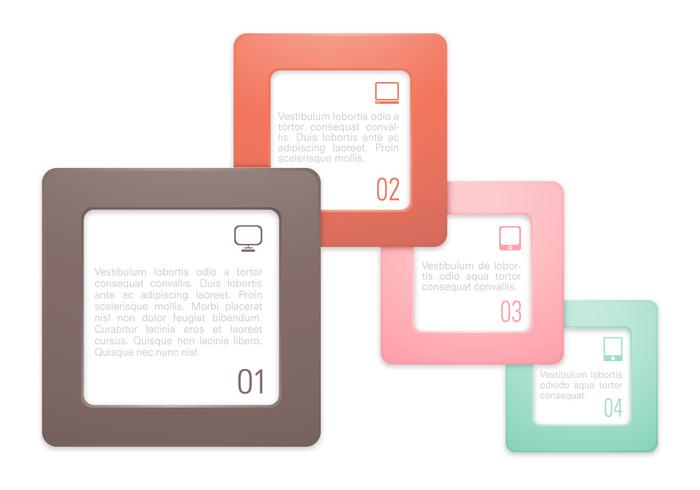Moderno cuadro numerado PSD Pack