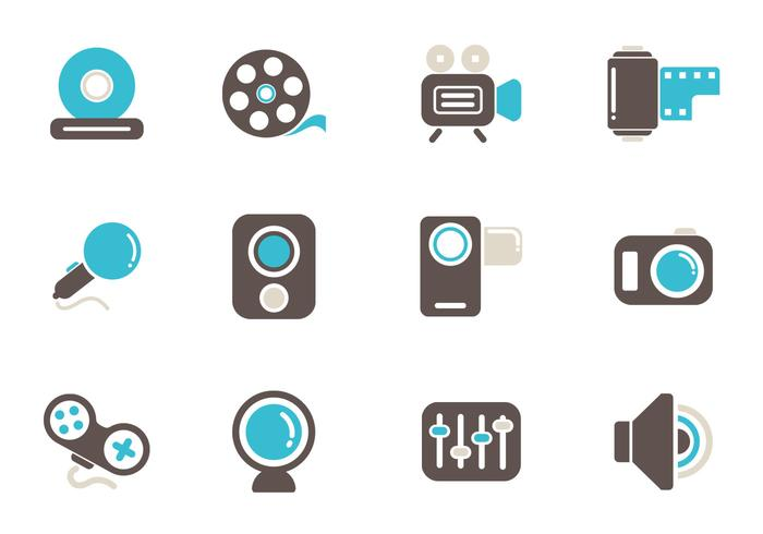 Multimedia Icon Brushes and PSD Pack