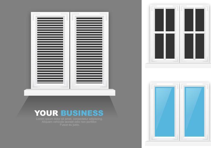 Modernt fönster PSD-paket