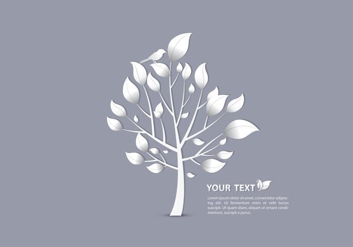 Papier peint PSD Silver Bird On Tree
