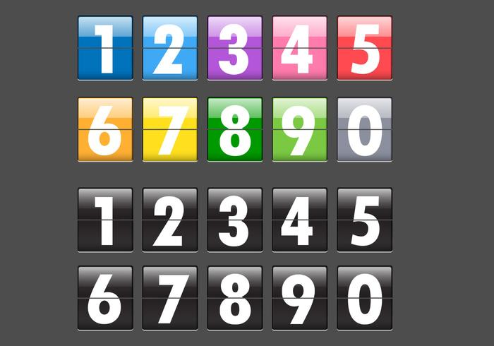 Number Flip Display PSD Pack
