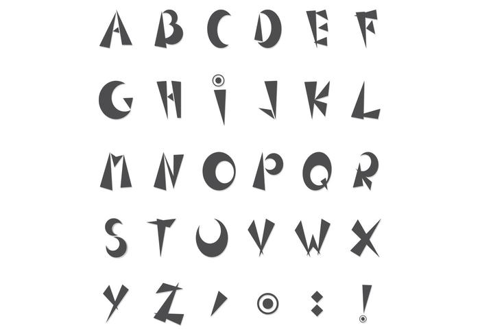 Pack psd alphabet funky