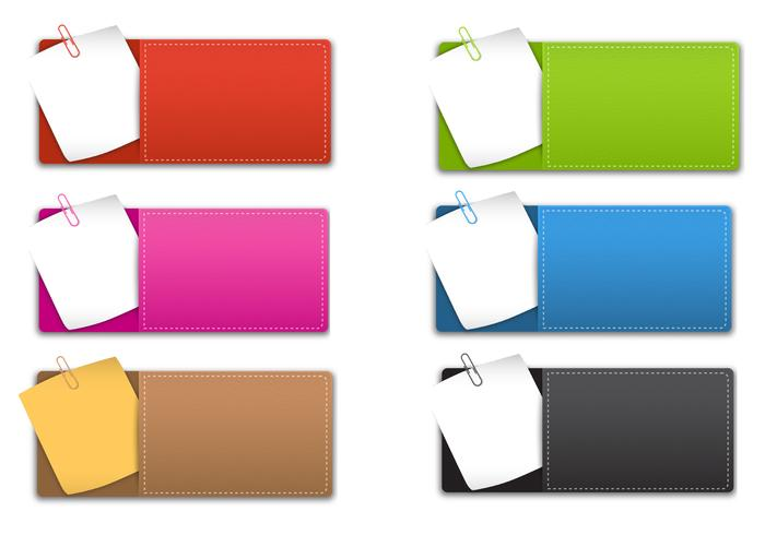 Sticky note banner pack psd