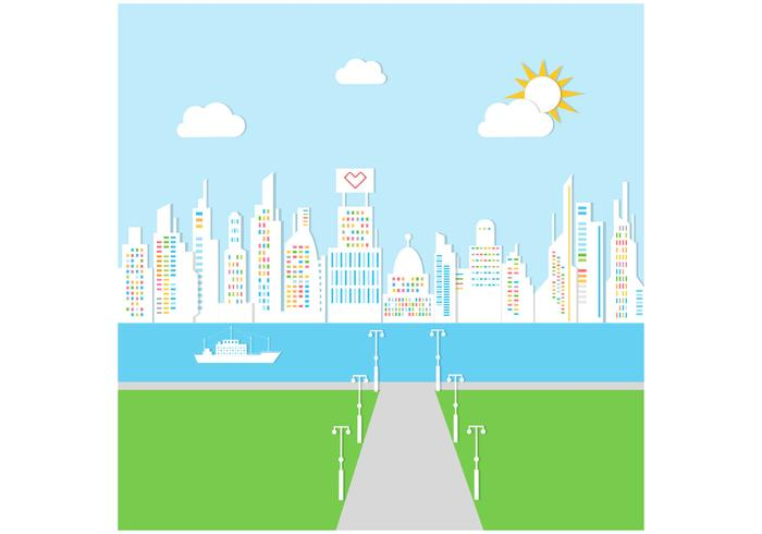 Sunny City Background PSD