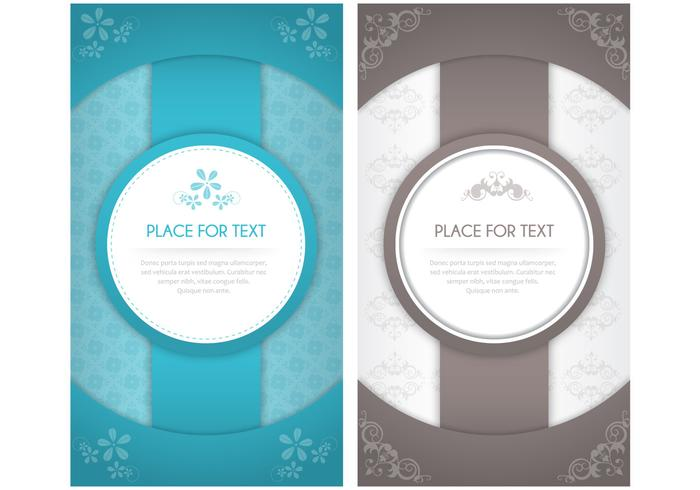 Modern Floral Invitation PSD Pack
